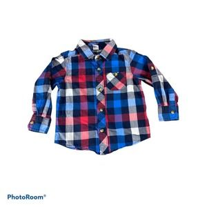 Old Navy Plaid Button Down Shirt 2T
